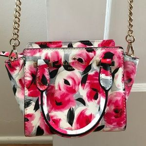 Kate Spade Mini Hayden Bag Rose Posy Red Multi